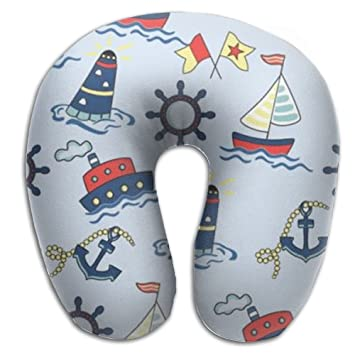 Buque de crucero barco cómodo sin aroma avión cuello almohada de viaje en forma de U