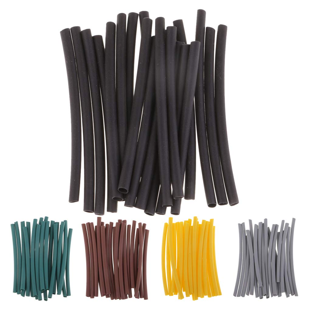 F Fityle 20pcs Heat Shrink Tube Rig Tubing Sleeve Hook Connector Rubber Carp Fishing Tackle