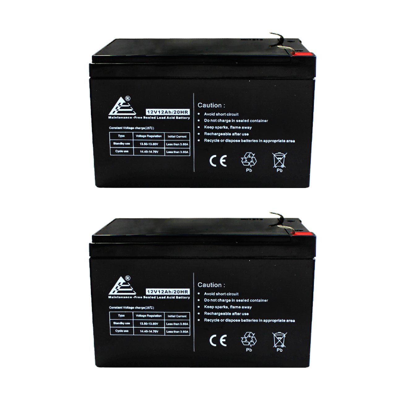 2 Pack ExpertPower 12 Volt 12 Ah Rechargeable Battery || EXP12120 Size 2 Pack - 12V 12 AH by ExpertPower