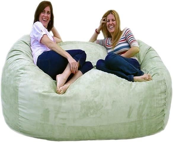 Cozy Sack 6-Feet Bean Bag Chair, Large, Sage