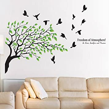 fb75849a0cf Buy Decals Design  Tree and Birds with Quote  Wall Sticker (PVC Vinyl