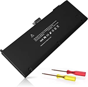 A1286 Battery, POWERWOO A1321 Battery [Li-Polymer/77.5Wh/10.95V] Replacement Compatible for MacBook Pro 15