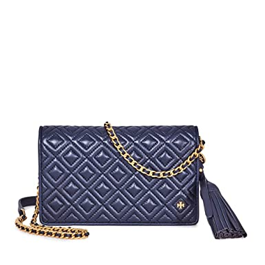900b6fa5361 Image Unavailable. Image not available for. Color  Tory Burch Fleming  Leather Quilted Flat Wallet Crossbody ...
