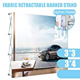 EVIEUN Portable Straight Pop Up Display Stand Trade Show Backdrop Booth Frame for Christmas Banner Show