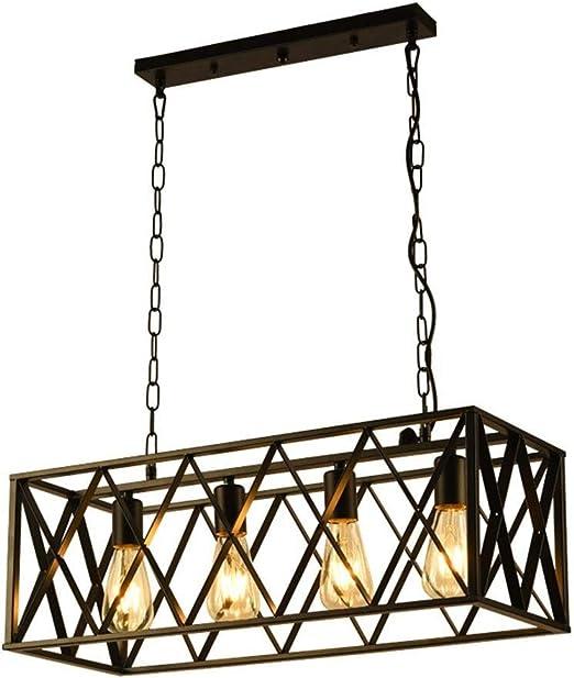 Lámparas de techo creativas rústicas Lámpara colgante de hierro ...