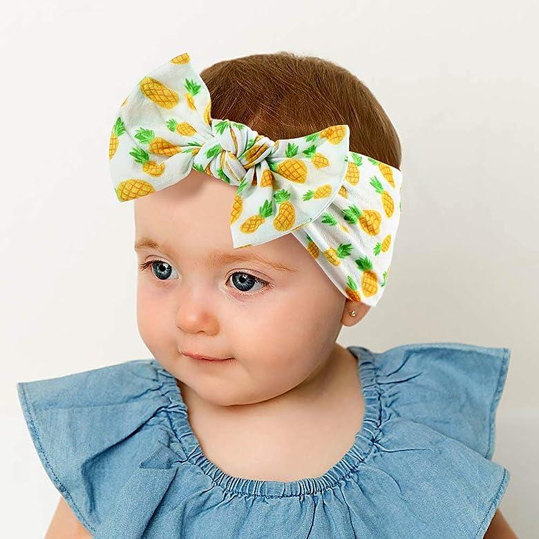 UK Baby Girl Hair Band Big Bow Headband Turban Knot Hair Accessory Head Wrap
