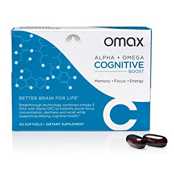 Amazon Com Omax Cognitive Boost Omega 3 Dha And Choline Alpha Gpc
