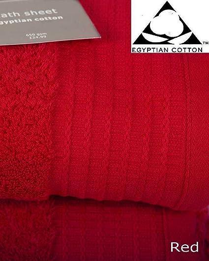 Prestige Luxor Egyptian Cotton 650gsm Pair of MINT GREEN Bath Sheets 150cm x 100cm