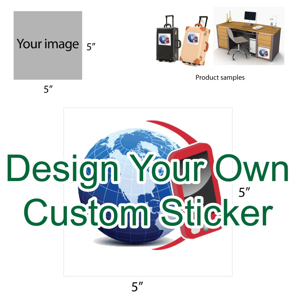 Design your own multi purpose custom sticker square size 4 5 x 5 multi purpose custom stickers amazon co uk kitchen home