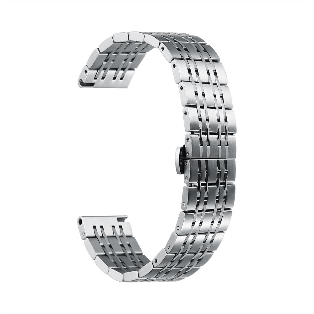 20mm Watch Band Stainless Steel Metal 22mm 20mm 18mm iStrap Replacement Bracelet Strap for Men's Women's Watch Silver