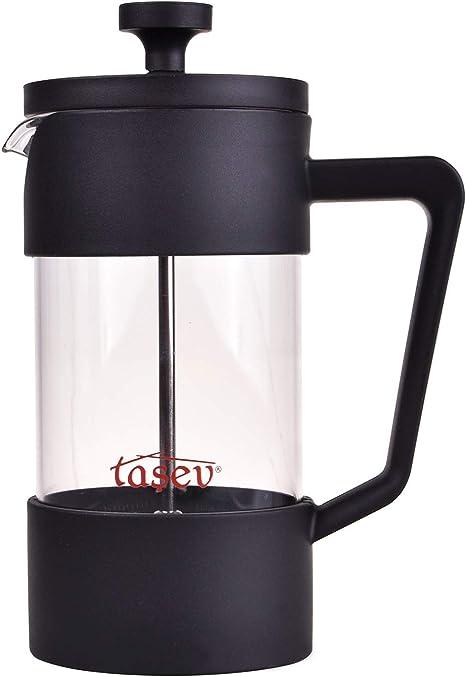 Cafetera de prensa francesa Tasev Loft con jarra de cristal, émbolo de café con filtro, cafetera manual, prensa de café en tamaño pequeño, 3 tazas (12 oz/0,35 l/350 ml): Amazon.es: Hogar