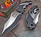 Mtech Xtreme Ballistic Black Grey Assisted Tactical Flipper Pocket Knife (1 Knife)