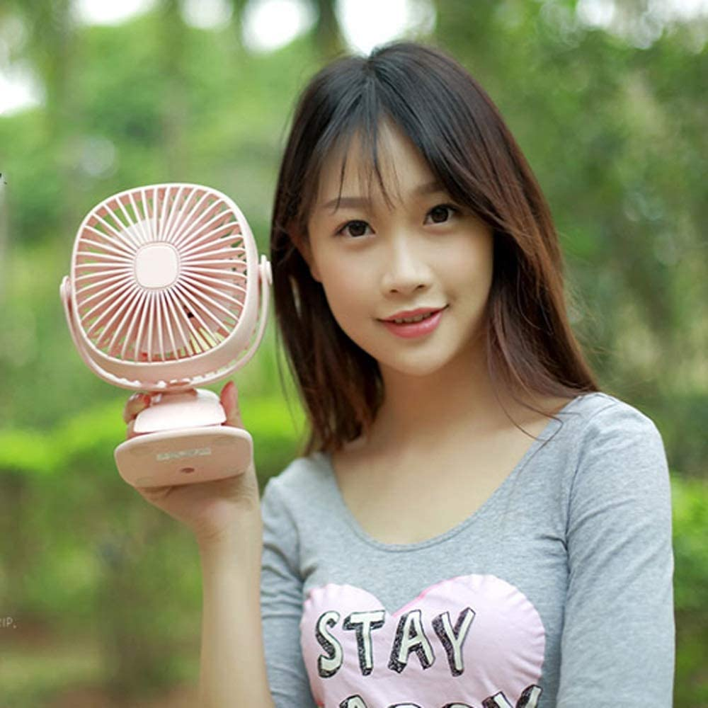Office Color : B RMXMY Rechargeable Battery Operated Fan Airflow Small Fan Battery Operated Rechargeable for Camping Reading Mini USB Table Fan