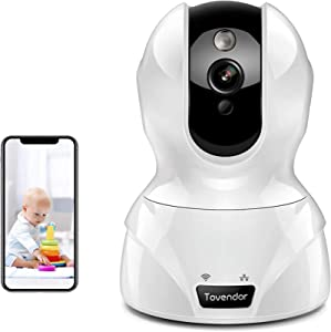 Security Camera 1080P Pet Camera WiFi Surveillance Camera with Motion Detection, Night Vision and Two Way Audio, Tovendor IP Home Indoor Cam Cloud for Baby Monitor, Business and Elderly Care