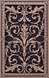 "Decorative Vent Cover, Grille, made of Urethane Resin in Louis XIV, French style fits over a 20""x 12"", Total size, 22"" by 14"", for wall & ceiling installation only. (not for floors) (Rubbed Bronze)"
