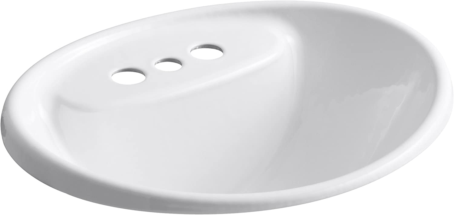 KOHLER K-2839-4-0 Tides Bathroom Sink, White