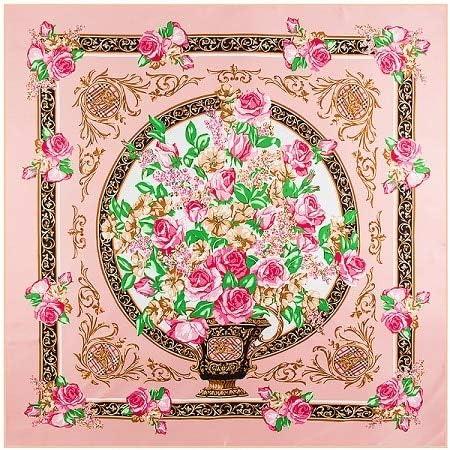 LYDHWK Marca España Royal Estampado Floral Bufanda de Seda Mujer pañuelo pañuelo para Mujer Hijab Bufandas cuadradas de Seda foulards Pink: Amazon.es: Deportes y aire libre