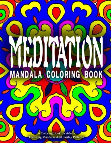 MEDITATION MANDALA COLORING BOOK - Vol.9: women coloring books for adults (Volume 9)