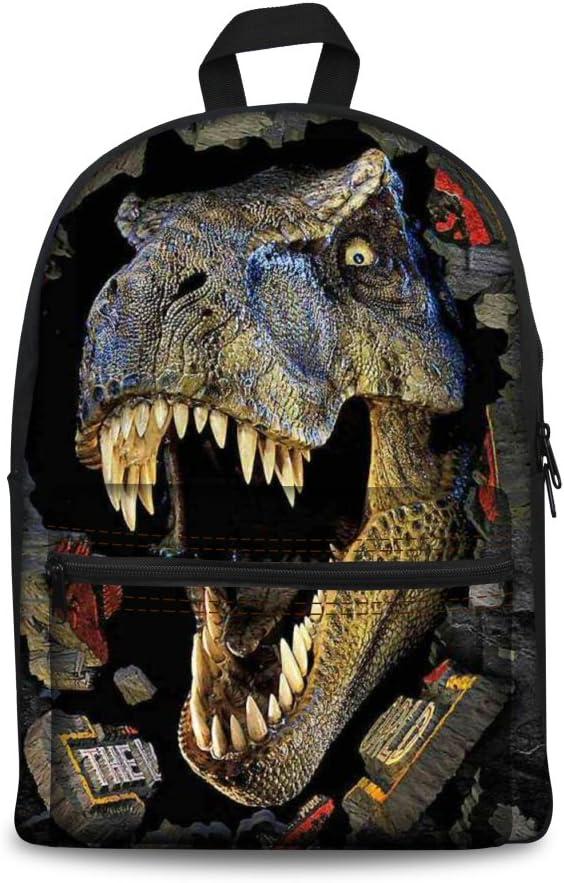 CHAQLIN Wolf Printing Backpacks Bookbag for Men Women
