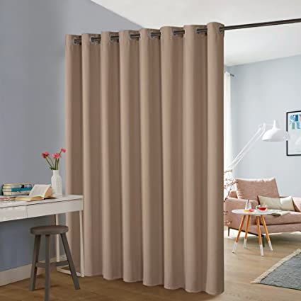 PONY DANCE Slider Curtains Partition   Room Divider Screen Privacy Bedroom  Partition Wide Width Room Partitions