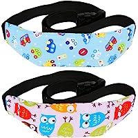 Rovtop 2 pza Soporte del cuello de la Cabeza del Asiento de Seguridad para bebés - Soporte Cabeza Sujeta Coche para Niños en la Mayoría Asientos Convertibles