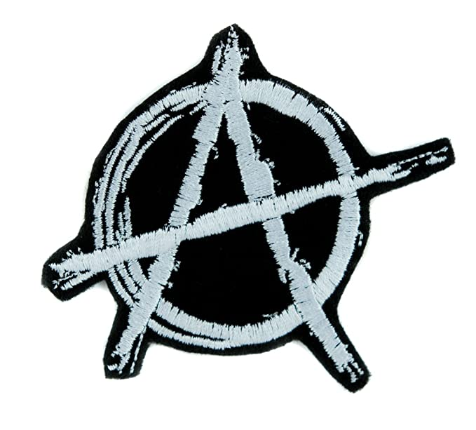 Amazon White Anarchy Sign Patch Iron On Applique Alternative