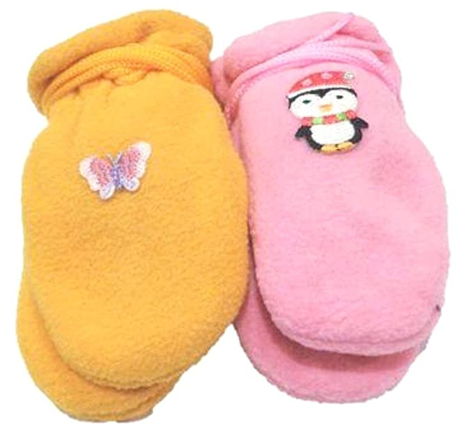 Baby Gloves & Mittens Set of Two Pairs Mongolian Fleece Very Warm Mittens for Infants Ages 3-12 Months