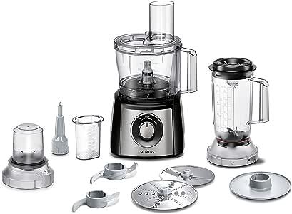 Siemens MK3501M - Robot de cocina (2,3 L, Negro, Acero inoxidable, Transparente, Giratorio, 1,2 m, Poder, De plástico): Amazon.es: Hogar