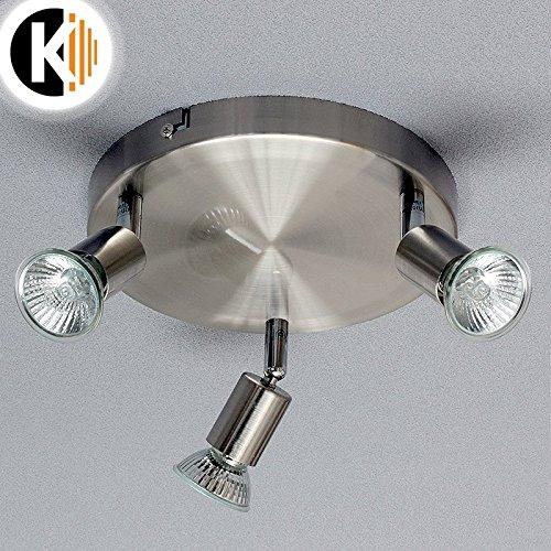 LED Halogen REBECCA Wand-/Deckenleiste Deckenleuchte Deckenlampe Lampe verstellbar 230V inkl. eko halogen 42W (Rebecca 3-Flammig) Kwazar Leuchte