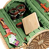 Picnic Time Verona Insulated Wine Basket with