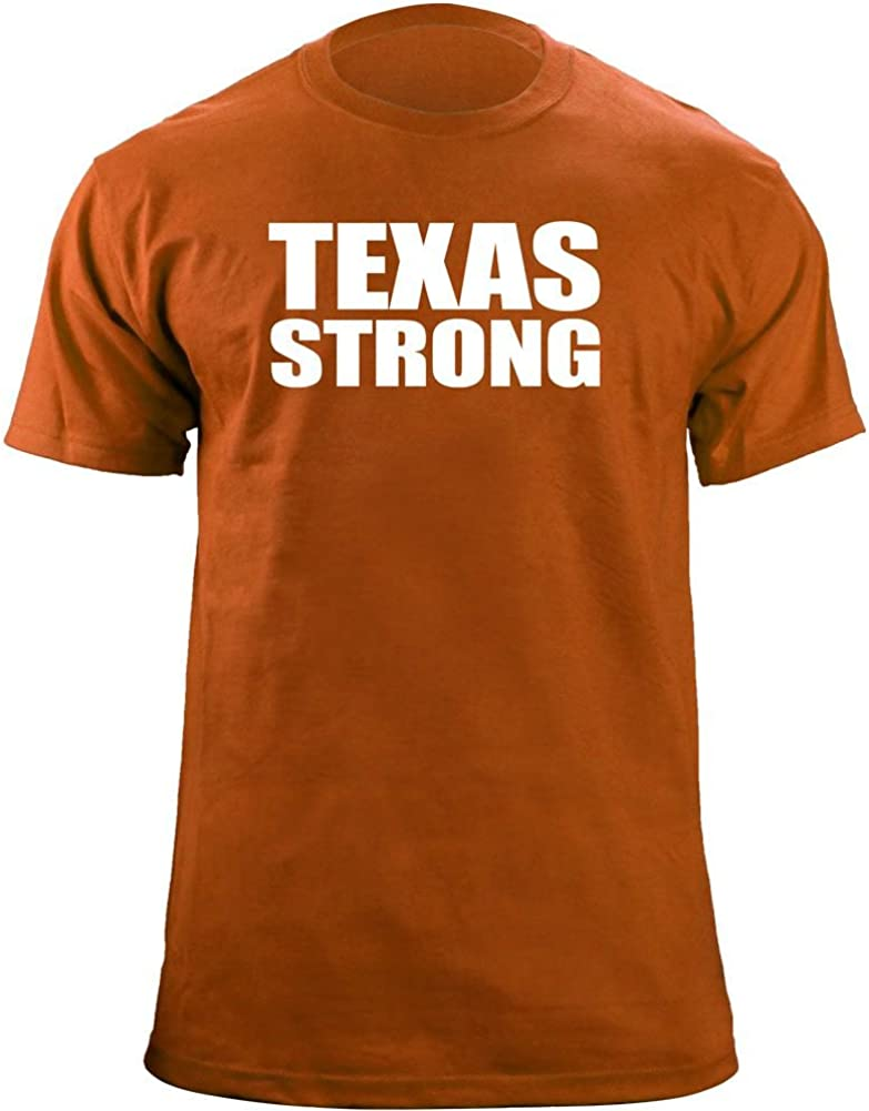Camiseta original Texas Strong (3XL, naranja/blanco): Amazon.es: Ropa y accesorios