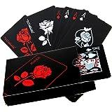 Baralho de cartas Besportble, 54 peças, padrão rosa, impermeável, pôquer, cartas mágicas de mesa, jogo de prática com 1 peça