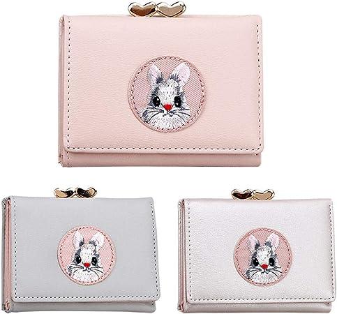 Style 1 Winwinfly Mignon Lapin Porte-Monnaie Femmes Portefeuilles Titulaire de la Carte cl/é Sacs dargent