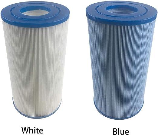 ROKF Filtro de Agua para bañera de hidromasaje, Cartucho de Filtro de Repuesto purificador de Filtro de Agua para Piscina Inflable, SPA de Burbujas, jacuzzis, White 1 Pack, Tamaño Libre: Amazon.es: Hogar