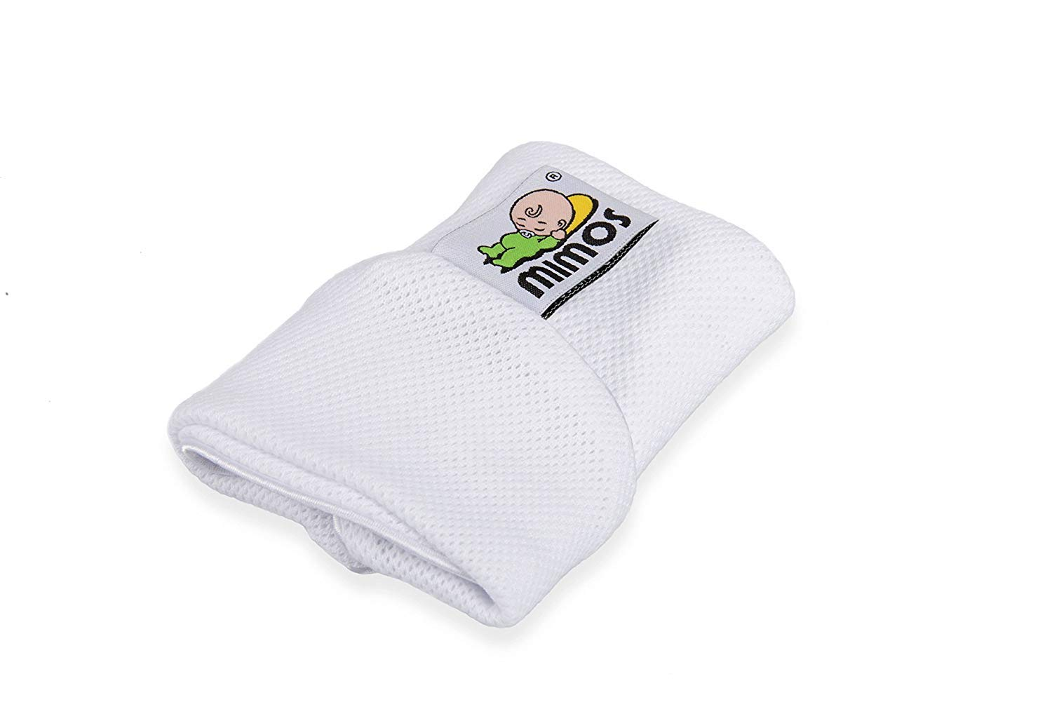 Size S - 2 Items Mimos Pillow Bundle Pillow and White Cover European CE Approved   Clinically Proven Effective for Flat Head Prevention Anti-Suffocation