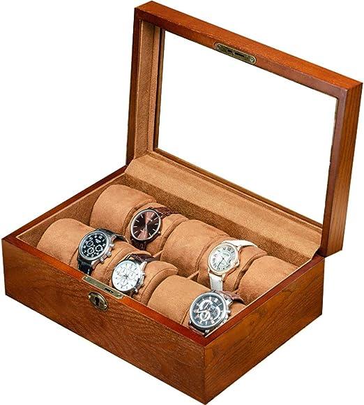 La Caja del Reloj de Madera Tiene Capacidad para 10 Relojes con ...