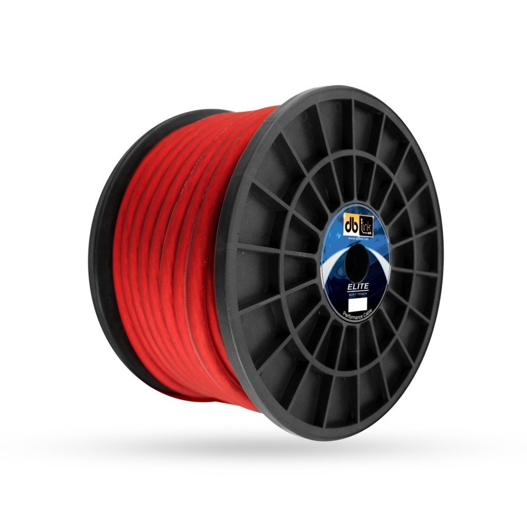 DB Research L.L.P. DB Link STPW4R100Z 4-Gauge 100-Feet Roll Soft Touch Power Wire Red