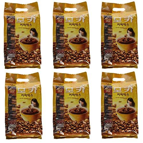 Rosebud Mocha Coffee Mix (12g x 100 sticks) - Pack of 6 by Rosebud