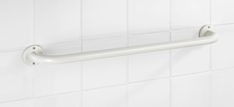 Blanco 9.5x66x6 cm Acero Inoxidable Wenko Basic Toallero Mural