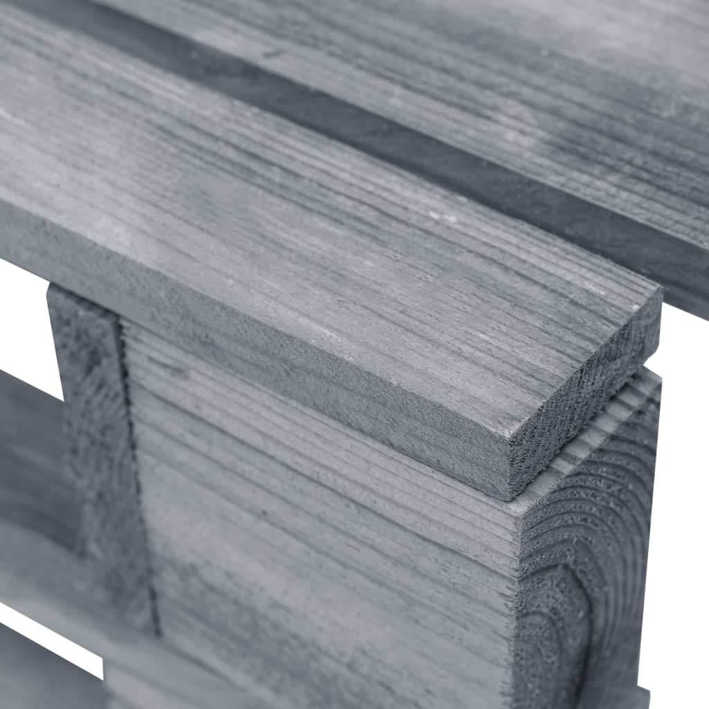 Tidyard Ottomana da Giardino con Pallet,Cuscino per bancali di Legno Eco Style,Comoda Seduta per Divano pancale in Legno FSC Grigio