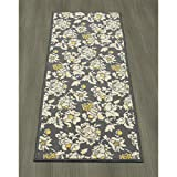 Ottomanson Studio Collection Floral Design Runner Rug, 20″ X 59″, Grey Review
