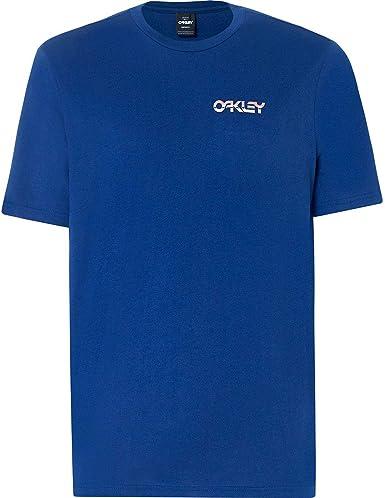 Oakley Camiseta B1b Chrome Dark Azul (M, Azuloscuro): Amazon.es: Ropa y accesorios