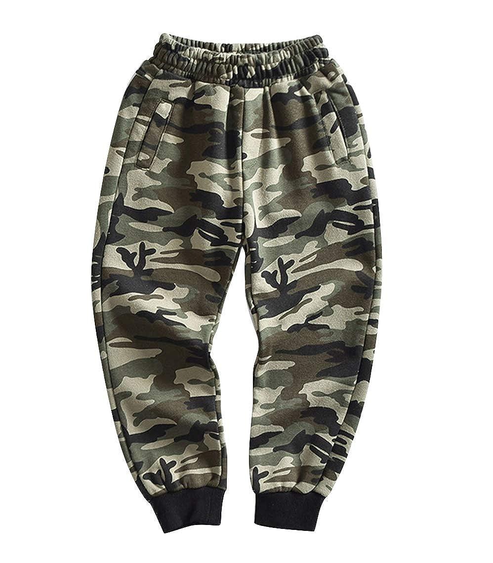 YoungSoul Pantalon de Jogging Camouflage Pantalon Surv/êtement Gar/çon