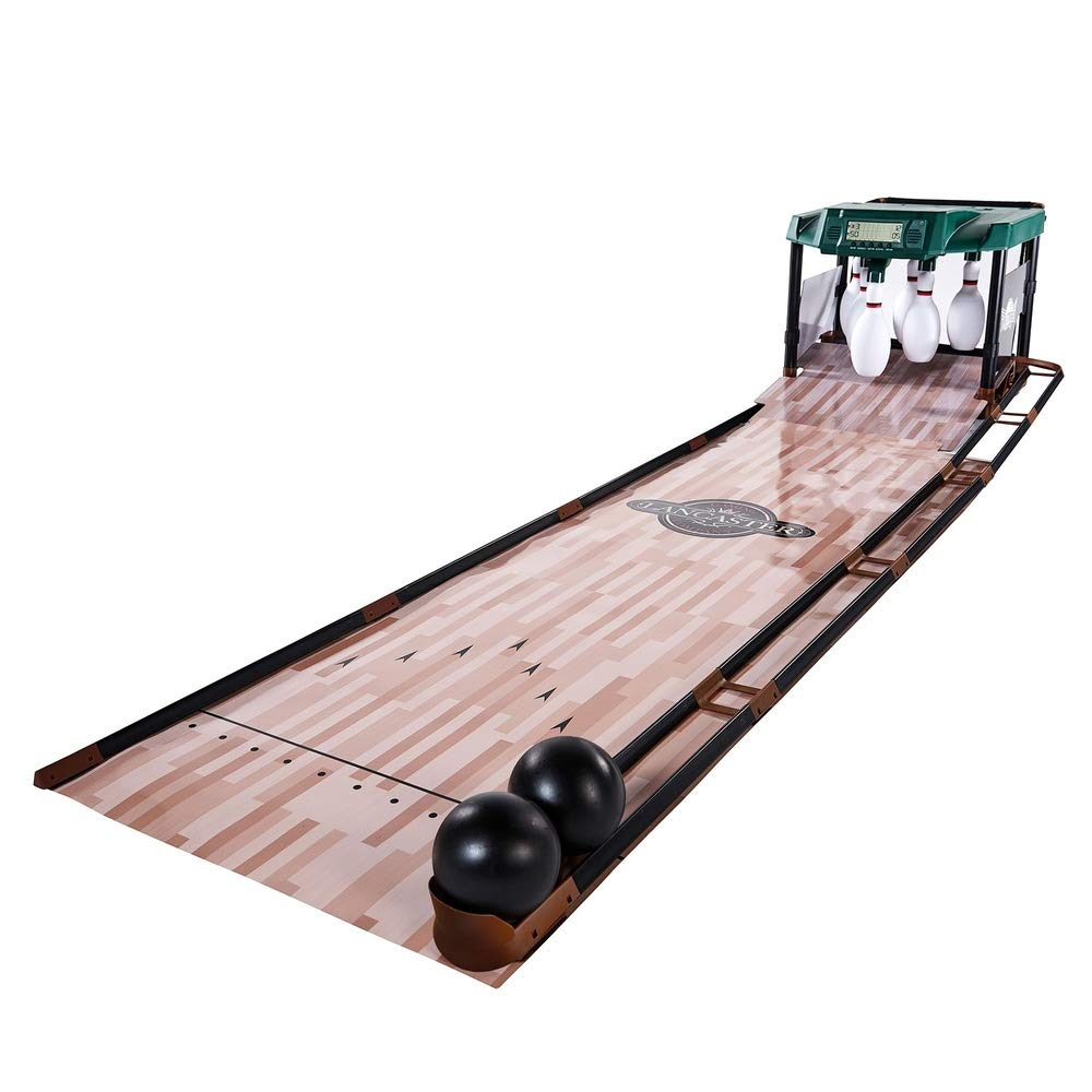 MOKACOCA 85 Inch Indoor Bowling Alley with Electronic Scorer Arcade Game