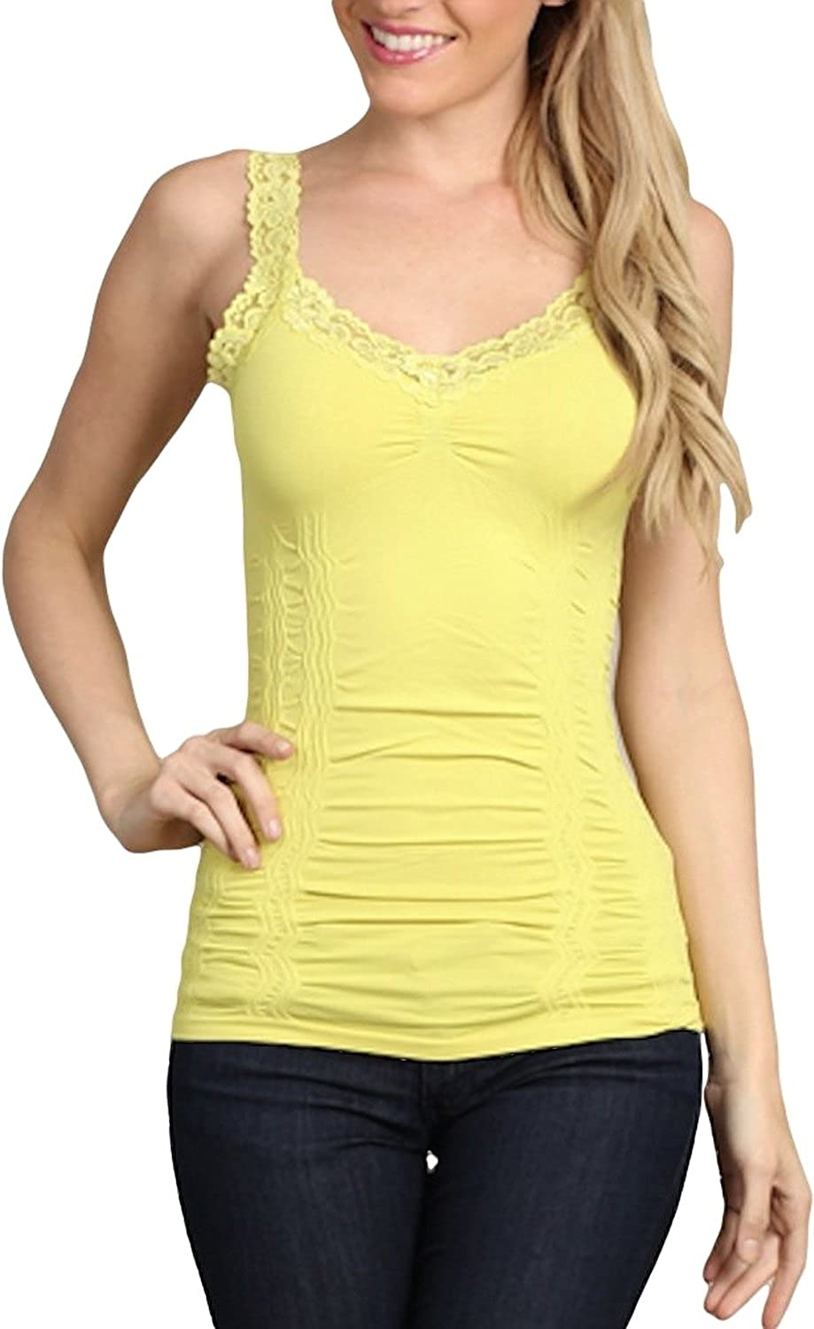 M.Rena Women's Lace Camisole-one Size Fits Most- Sharp Green