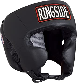 Black Ringside Competition Boxing Headgear With Cheeks