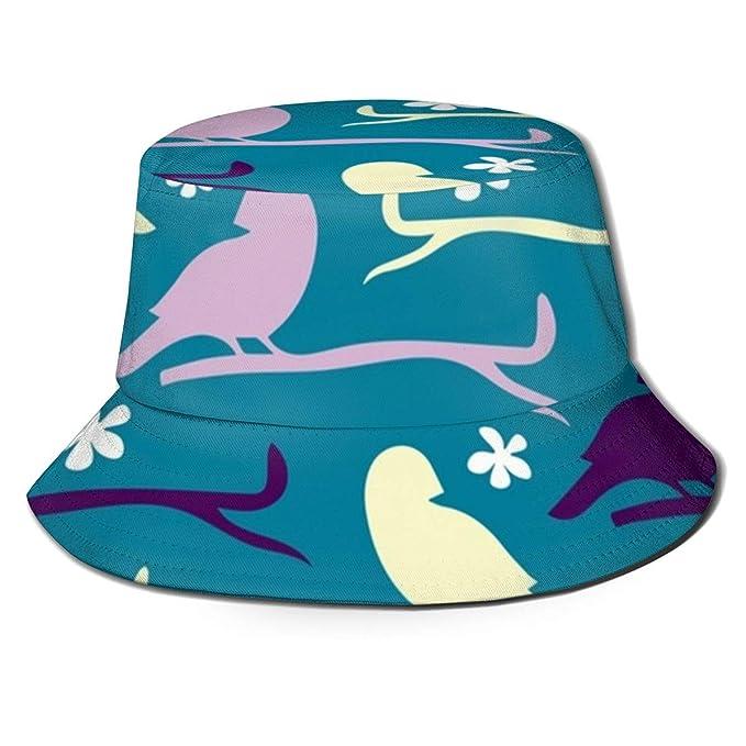 Los Sombreros de Cubo Transpirables de Tapa Plana Bird3 Usan ...
