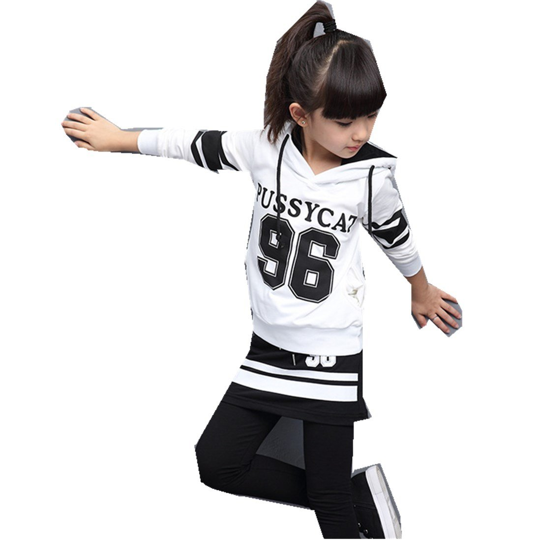 Girls Suit New Sweater Two Sets Cotton Children Spring Autumn Two Pieces Sets