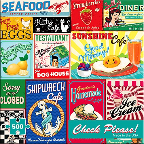 """Review Re-Marks Vintage Signs """"Check Please"""" 500 Piece Puzzle"""