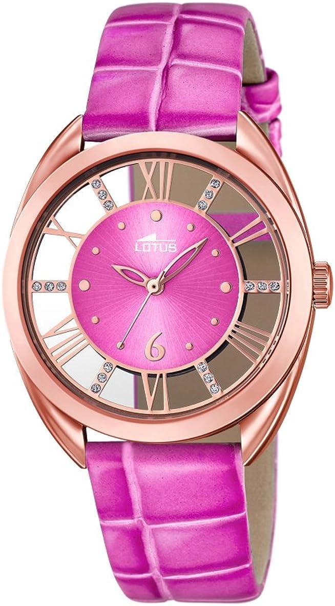 Lotus 18226/1 - Reloj de Pulsera Mujer, Cuero, Color Rosa
